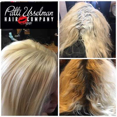 PLATINUM BLONDE RETOUCH BEFORE AND AFTER